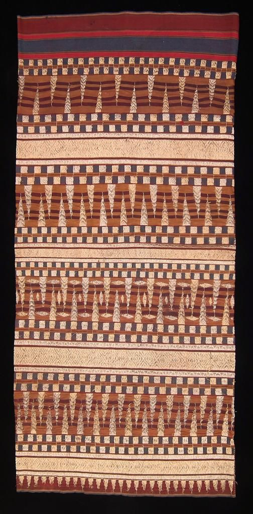Ancient Weaving Patterns Tapis Ceremonial Skirt Abung People