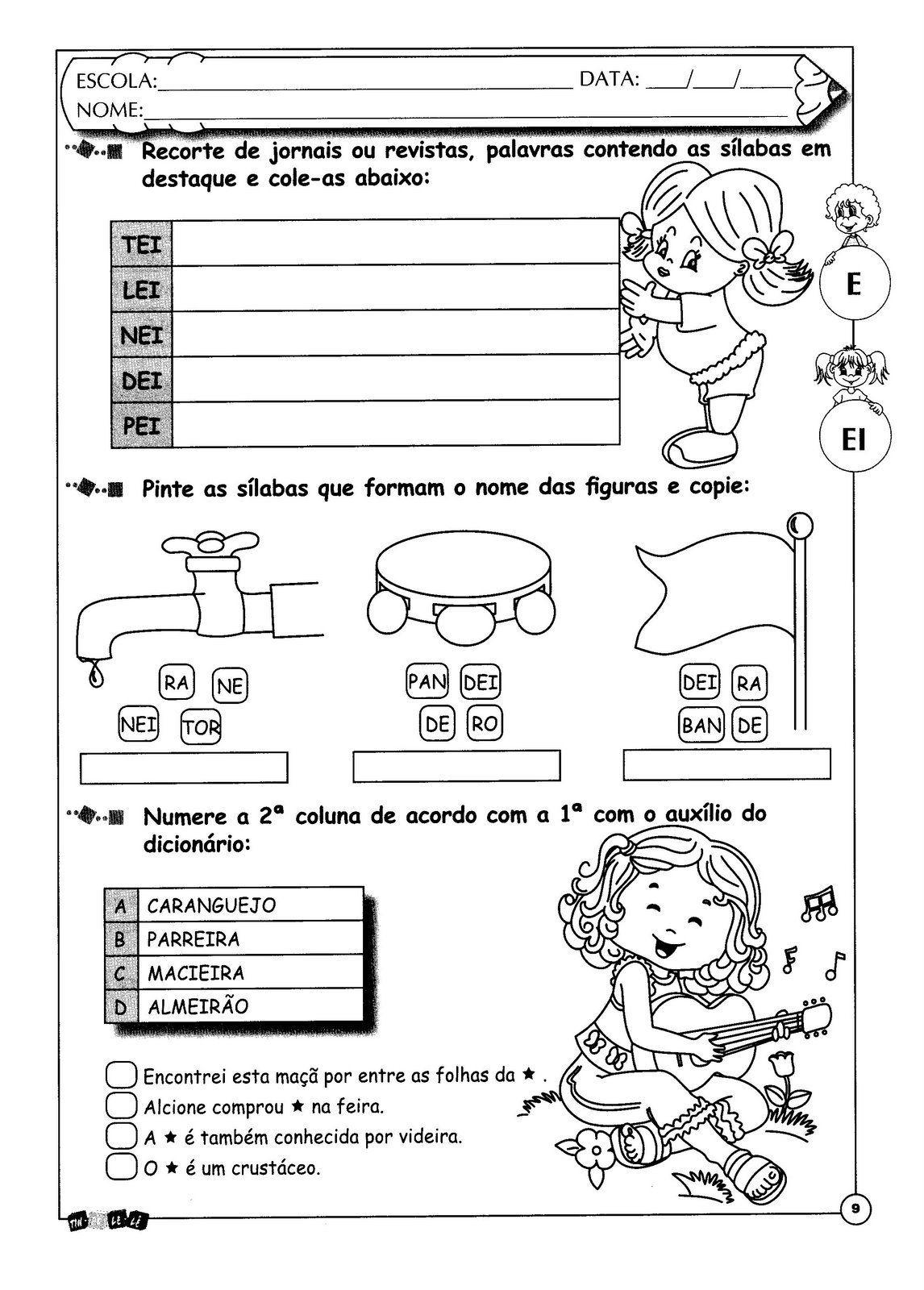 Pin De Tania Machado Em Consciencia Fonologica Atividades De Silabas