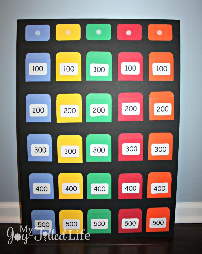 DIY Jeopardy Game Board | Game boards, Gaming and Church games
