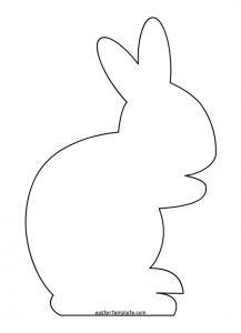 image about Bunny Silhouette Printable referred to as 4 opinions Easter Easter bunny template, Easter templates