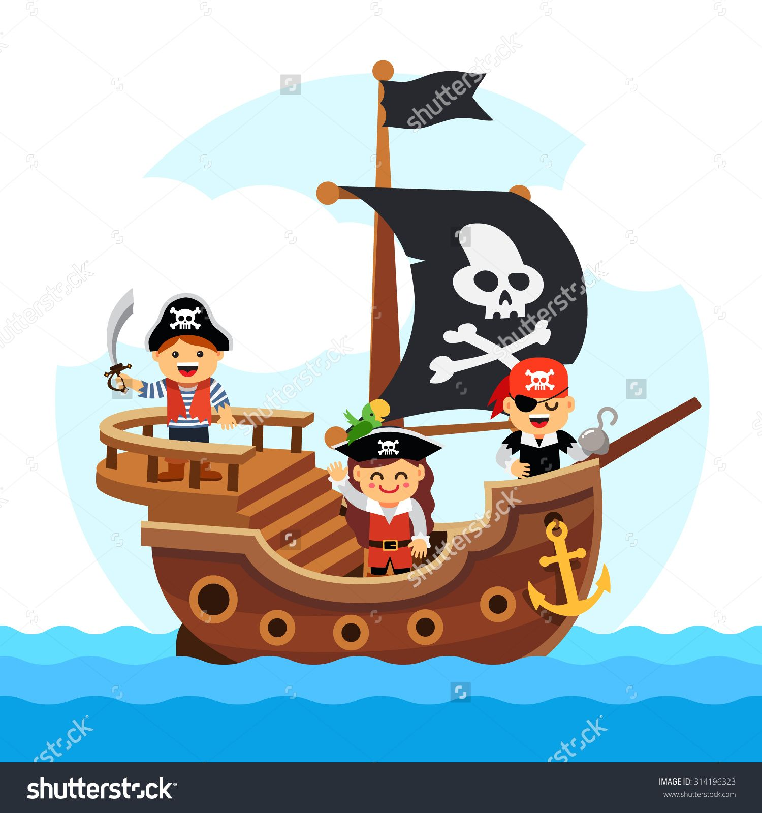 Picture of pirate at sea theme google search projects - Imagenes de barcos infantiles ...
