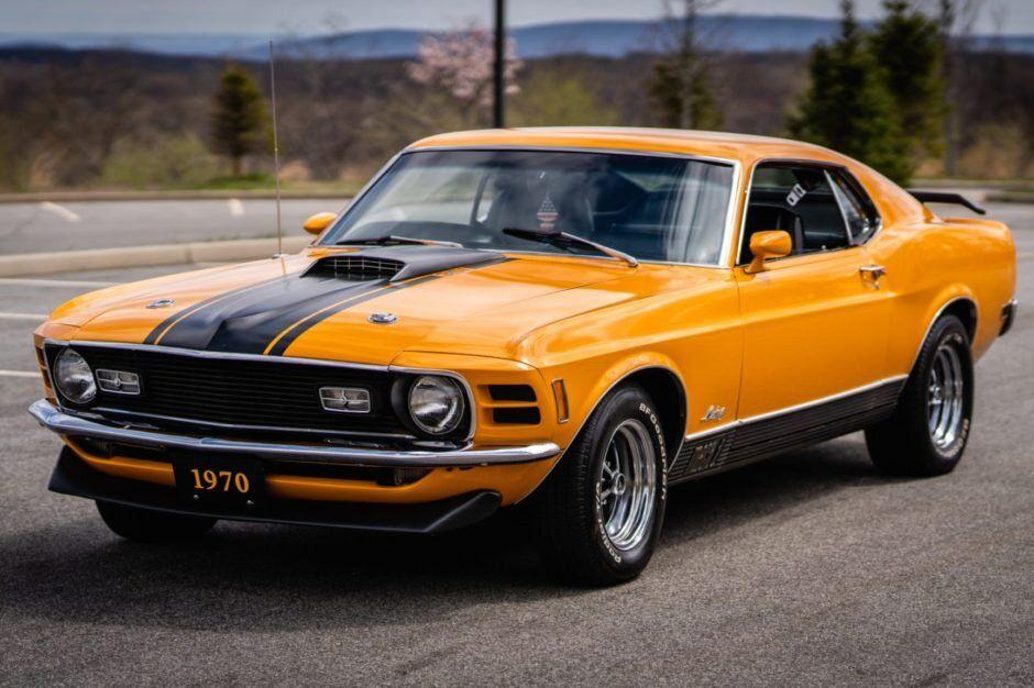 For Sale 1970 Ford Mustang Mach 1 Grabber Orange 351ci V8 4 Speed Stangbangers In 2020 1970 Ford Mustang Ford Mustang Mustang