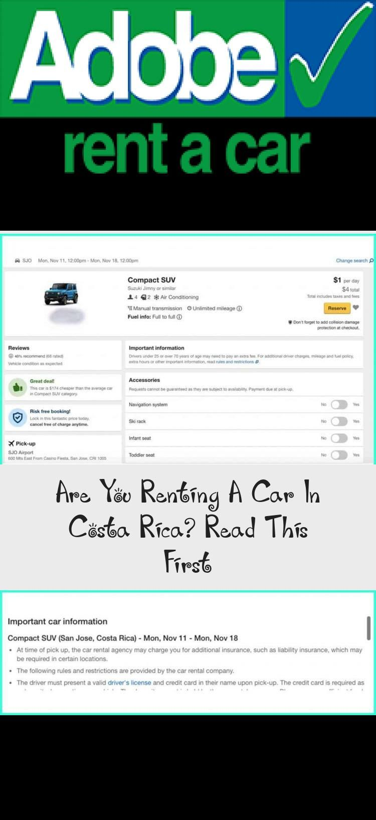 Are You Renting A Car In Costa Rica Read This First In 2020