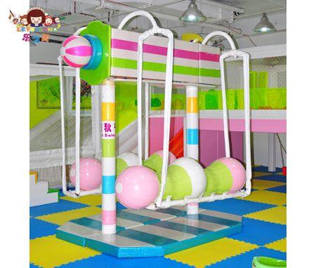 Lefunland indoor playground equipment swing merry go for Indoor play slide