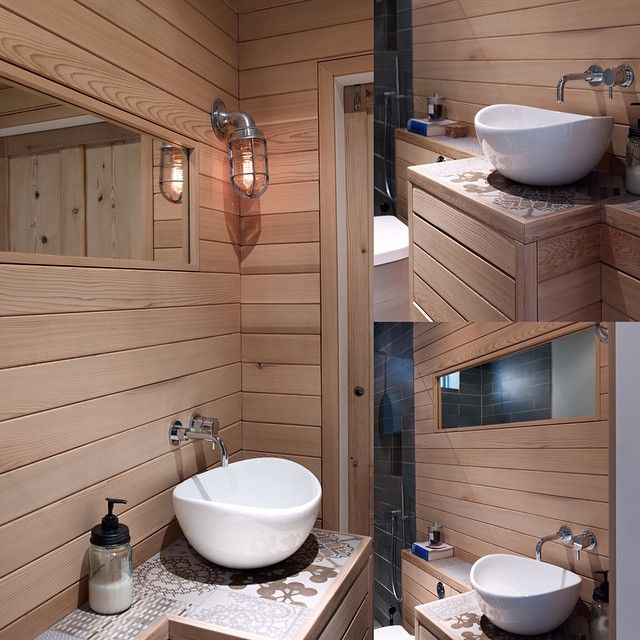 this western red cedar bathroom looks amazing and ultra modern