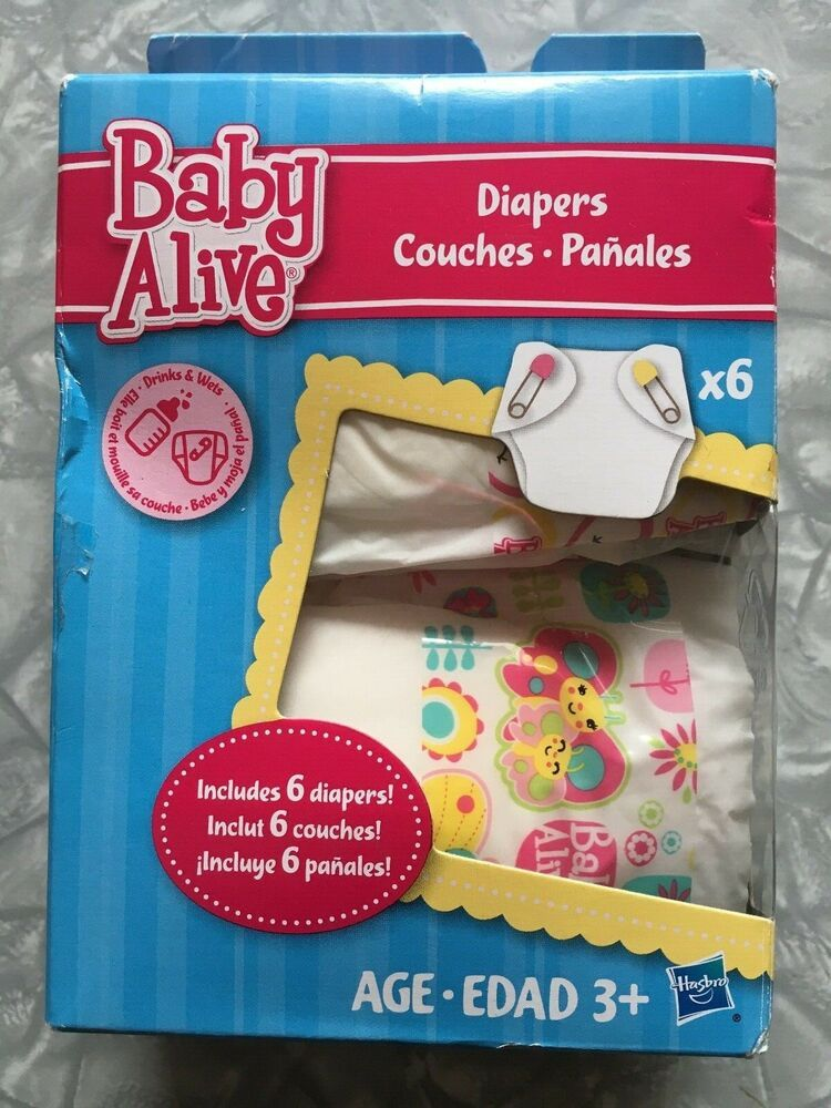 2013 baby alive doll diapers accessory refill 6 pack