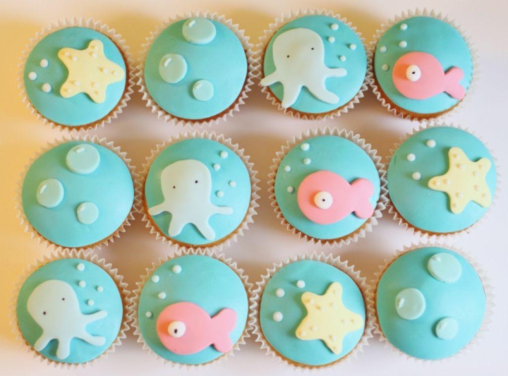 Sea Cupcake Decorations