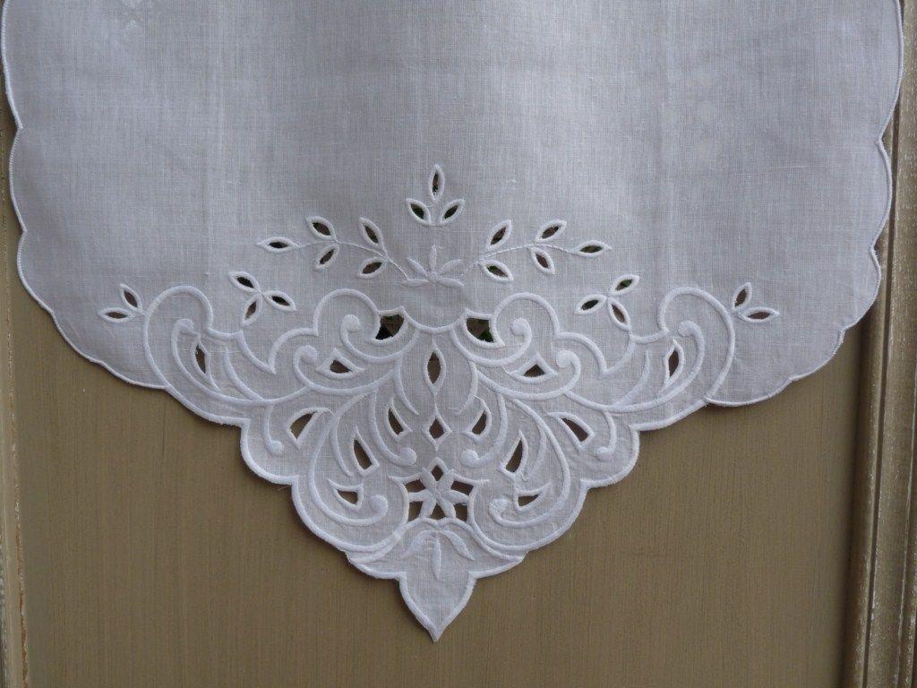 Rideaux rideau brod s voilages voilage brod brise bise pointe pr t poser rideau de - Rideau de cuisine au metre ...