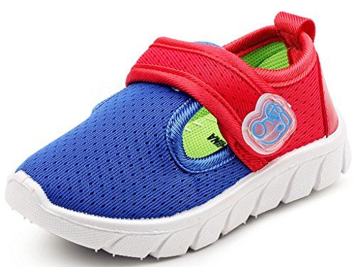 DADAWEN Baby's Boy's Girl's Breathable Strap Light Weight Sneakers Casual Running Shoes Blue US Size 12 M Little Kid ZIqQL1jhX