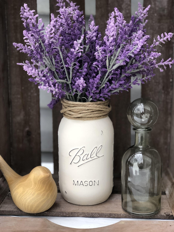 Hand Painted Flower Pot Lavender And Polka Dot Etsy Decorated Flower Pots Painted Flower Pots Flower Pot Design