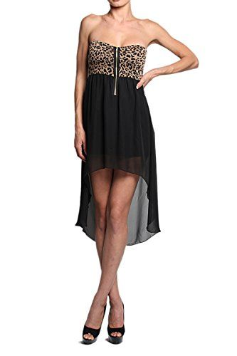 TheMogan Women's Leopard BUSTIER HI LOW DRESS Zip Front Dress - Leopard - Medium TheMogan http://www.amazon.com/dp/B00JMPVIPU/ref=cm_sw_r_pi_dp_KSJsvb1DKGV79
