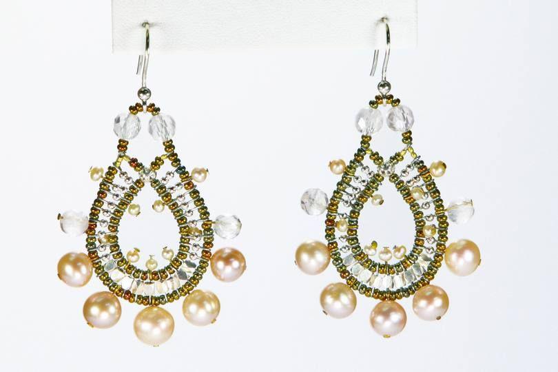 Ziio Earring Crown Pink - Waterpearls & Quartz