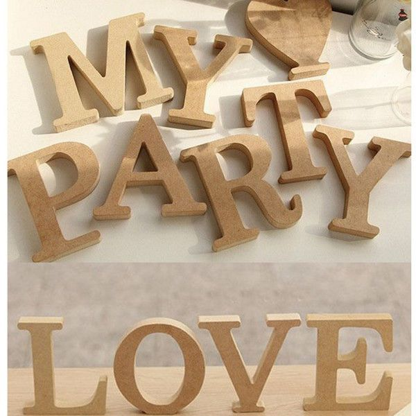 details zu diy holzbuchstaben buchstaben deko holz hochzeit 10cm schriftzug party hause neu. Black Bedroom Furniture Sets. Home Design Ideas