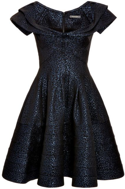 55f186d790d Zac Posen Metallic Jacquard Dress Metallic Blue   Black on shopstyle ...