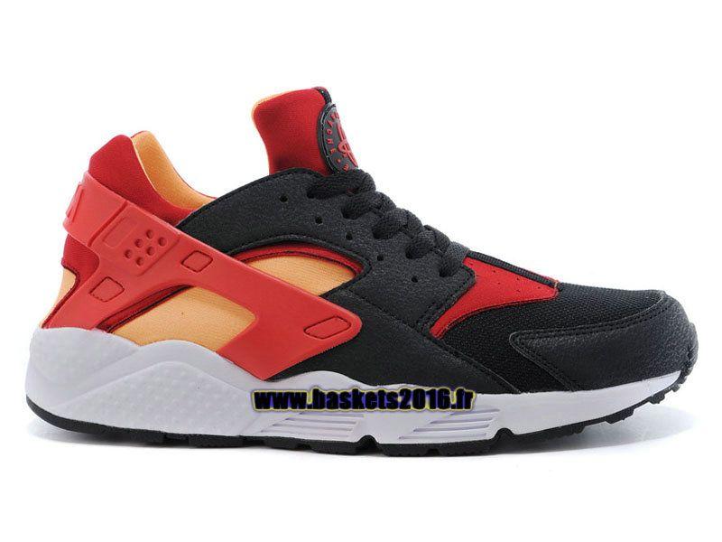 ac549a521e6 Nike Air Huarache 1 Chaussures Nike Officiel Prix Pas Cher Pour Homme Noir  - Rouge - Jaune - Blanc 318429-068