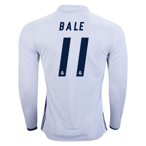 ... Gareth Bale Real Madrid Long Sleeve Home Jersey 1617 - Real Madrid Fans  -. af282d2a7