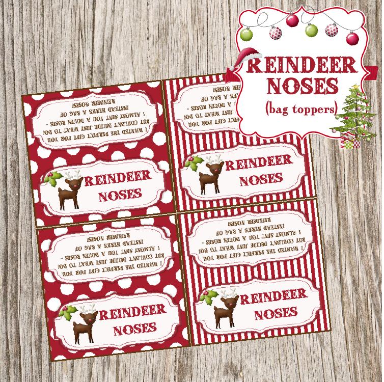 Reindeer Noses And Snowman Poop Free Printables Love It