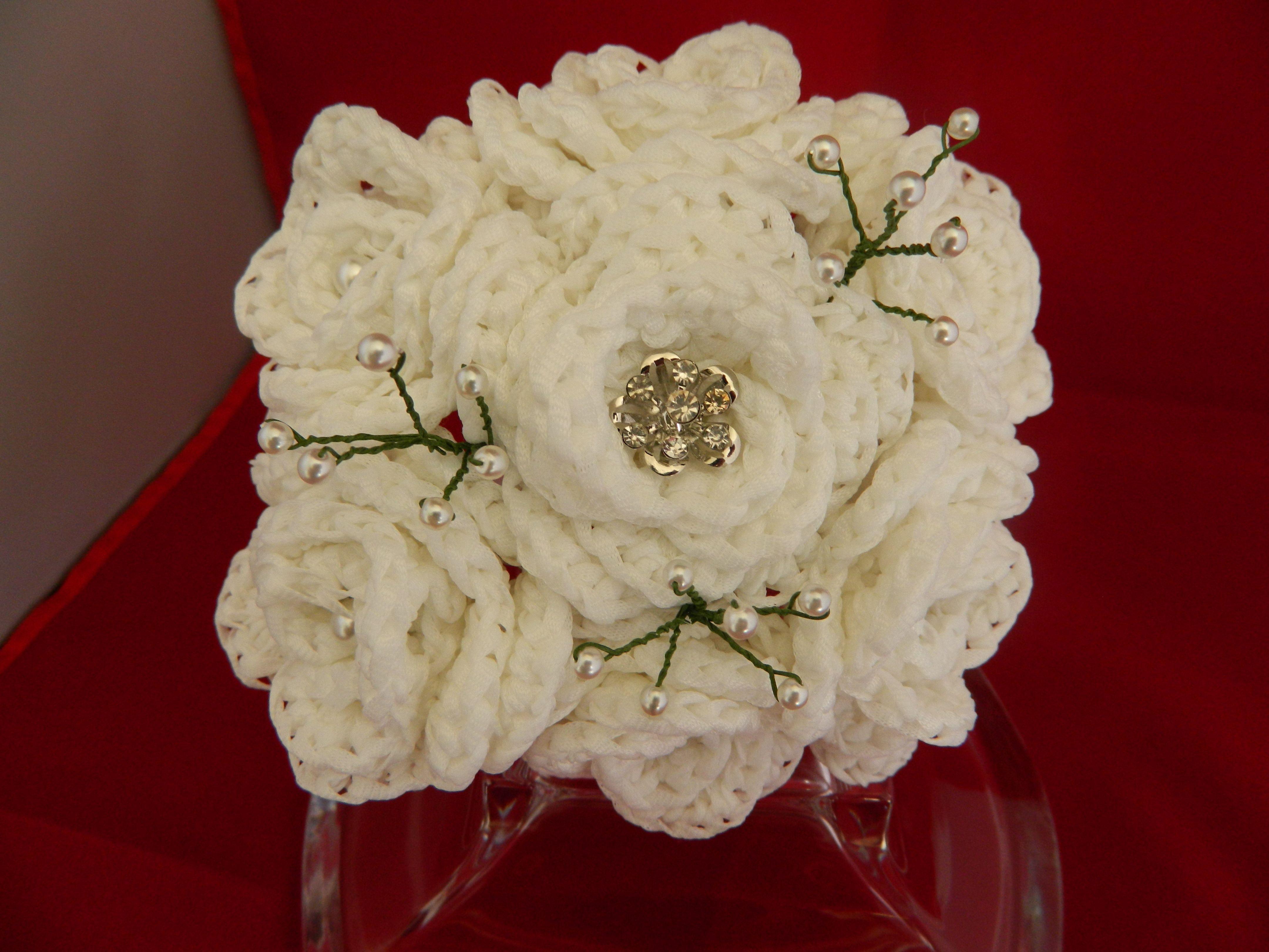 Crochet flower bridal bouquet front view crochet by me flowers crochet flower bridal bouquet front view crochet by me izmirmasajfo