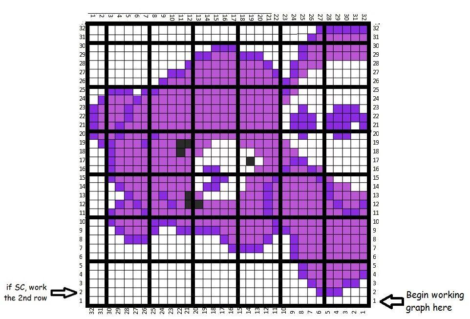 undefined | Crochet Word Charts & Graphs | Pinterest