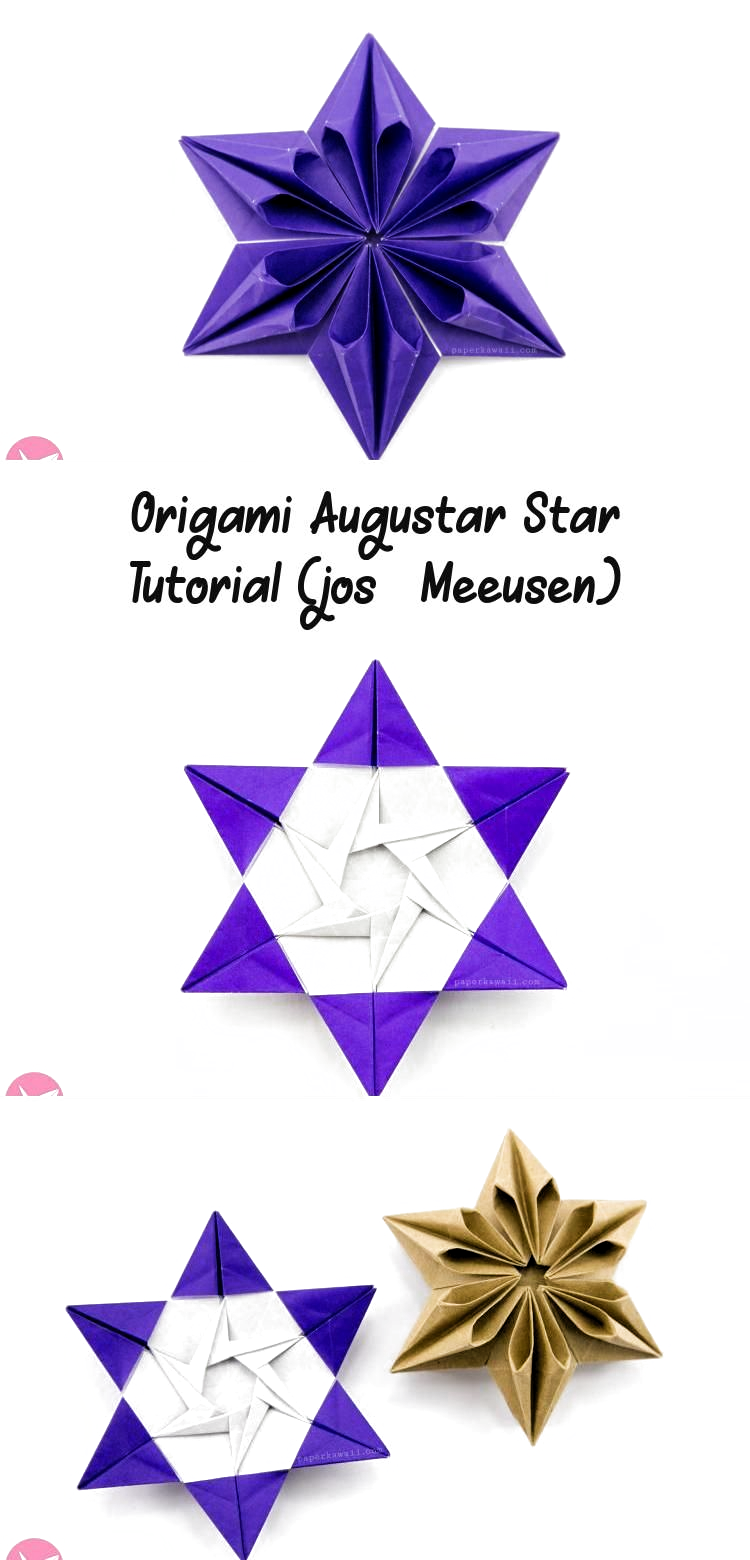 Photo of Origami Augustar Star Tutorial (José Meeusen) via Paper Kawaii #origamiPattern …