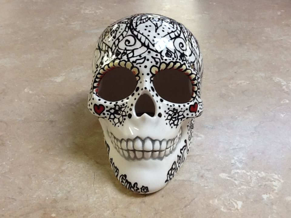 Realistic Skull Paint Your Own Ceramic Keepsake