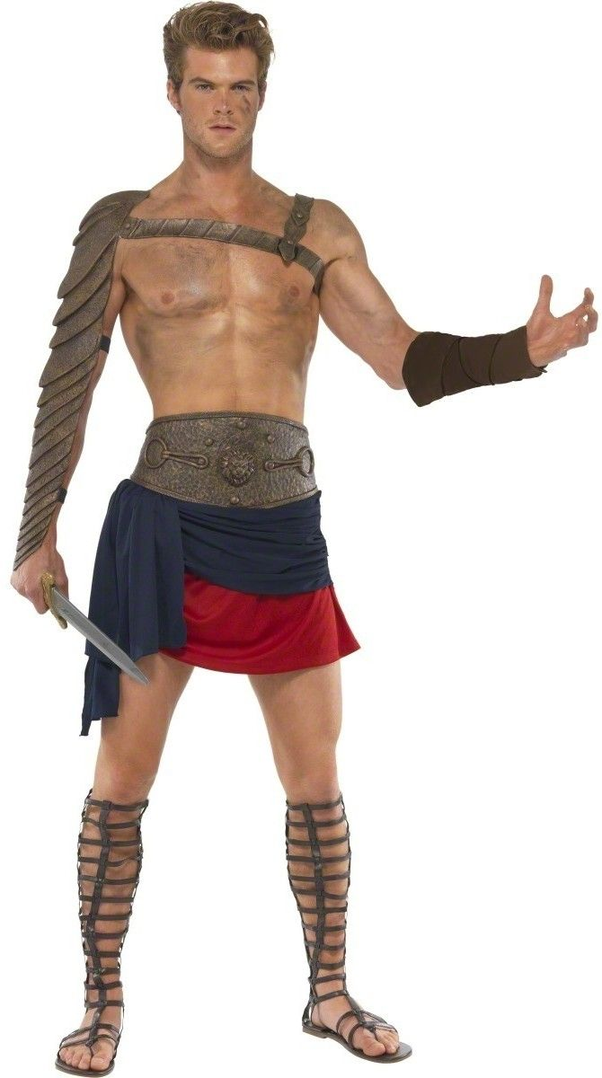 Medieval Warrior Man Brown Soldier Game of Thrones Mens Fancy Dress Costume