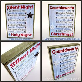 Today's Fabulous Finds: Two Printable Christmas Countdowns--One Block {Neighbor Gift Idea}