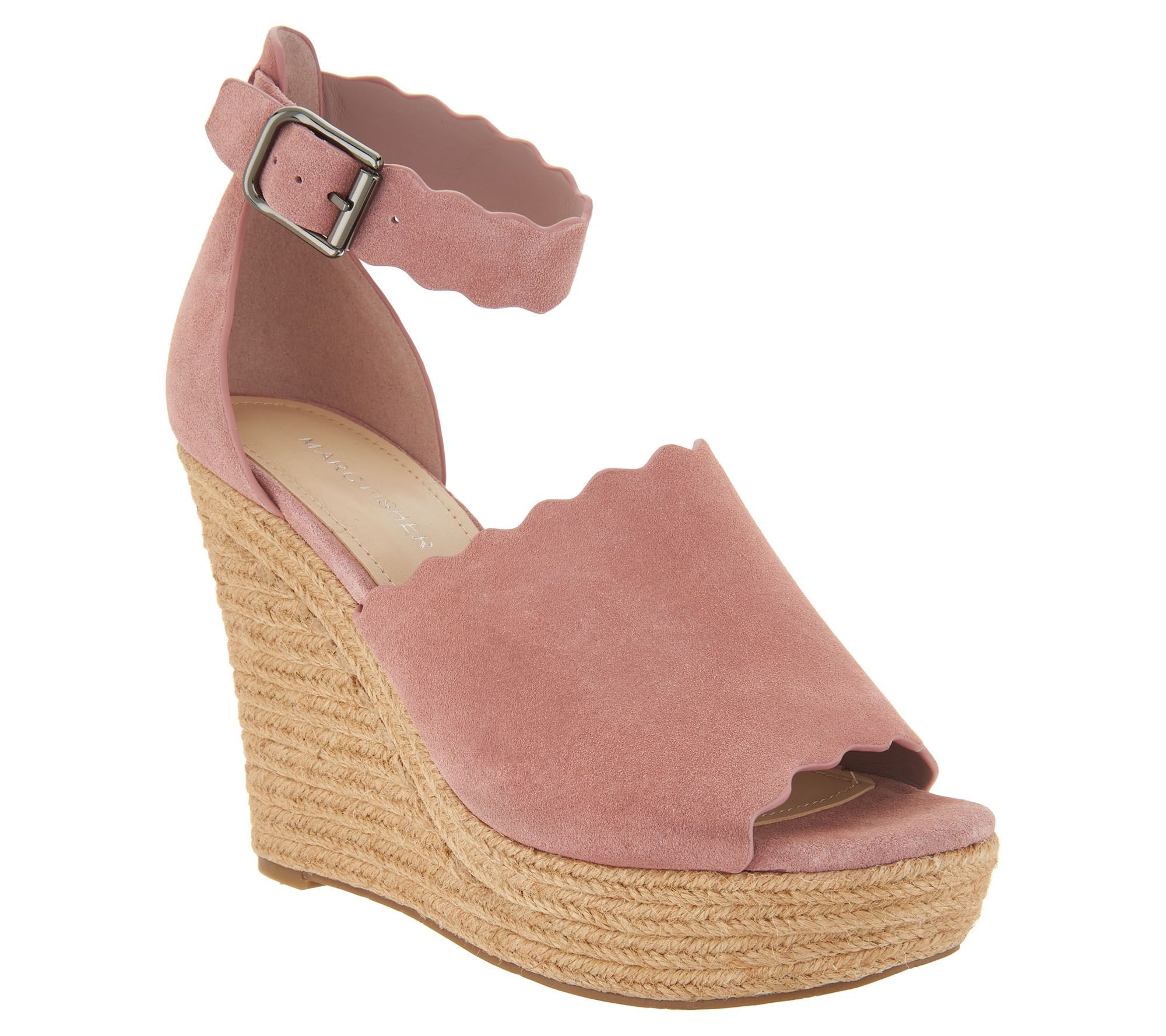 34c428f6b45 CHEAPER dupe to chloe scalloped espadrille sandal wedges
