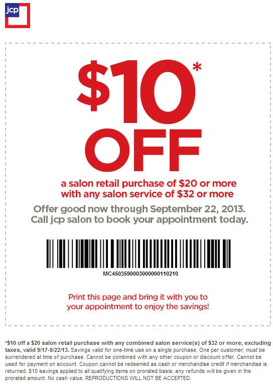 Instead Of Jcpenney Salon It Would Be Salon 22 10 Off 20 Printable Coupon Couponing For Beginn Couponing For Beginners Printable Coupons Jcpenney Salon