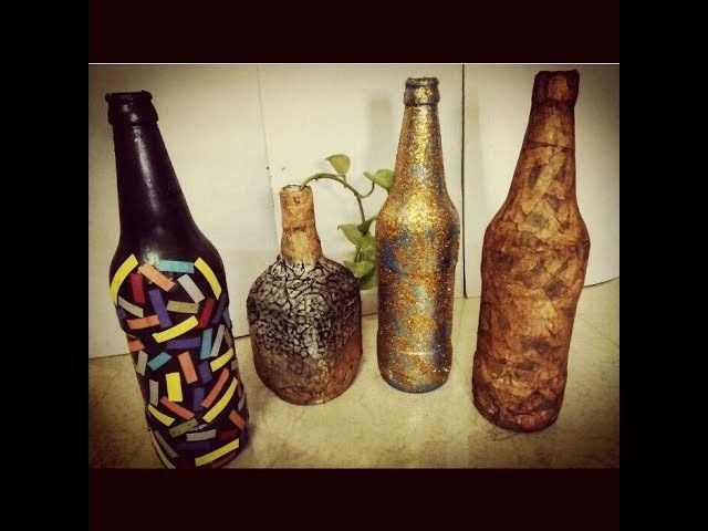Glass Bottle Decoration Ideas Diy  Simple And Easy Bottle Decoration Ideas  Room Decor  Room
