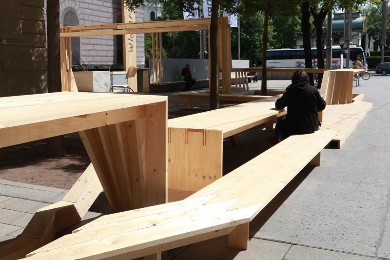 Sculture + Festival Centre - temporary installation, Vienna