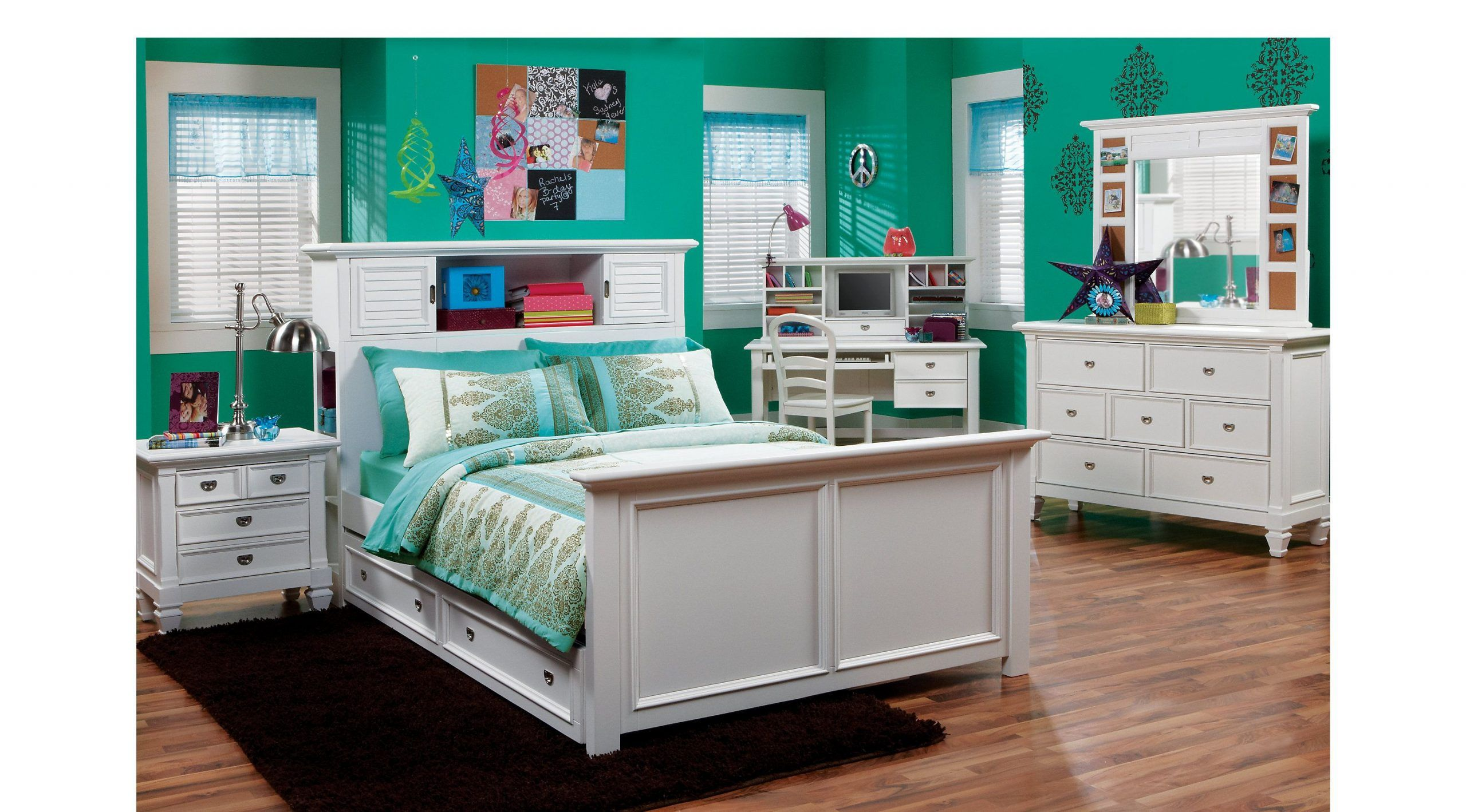 Full Bedroom Sets Rooms To Go Belmar White 6 Pc Full Bookcase