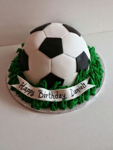 Soccer Ball Fondant Cake With Images Soccer Birthday Cakes