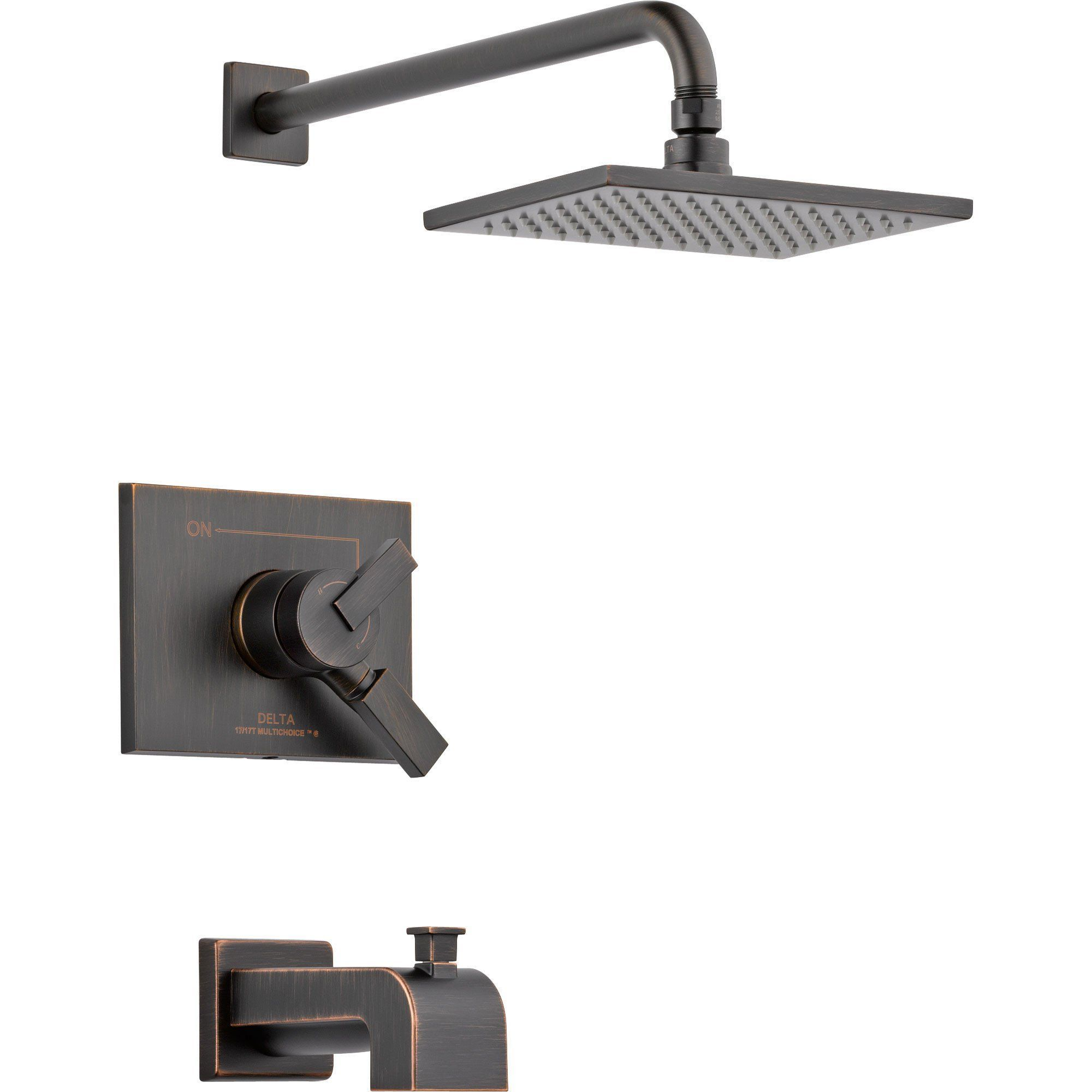 Vero Venetian Bronze Two Control Tub And Shower Faucet With Valve