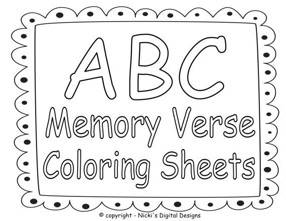Memory Verse Bible Verse Coloring Pages For Kids