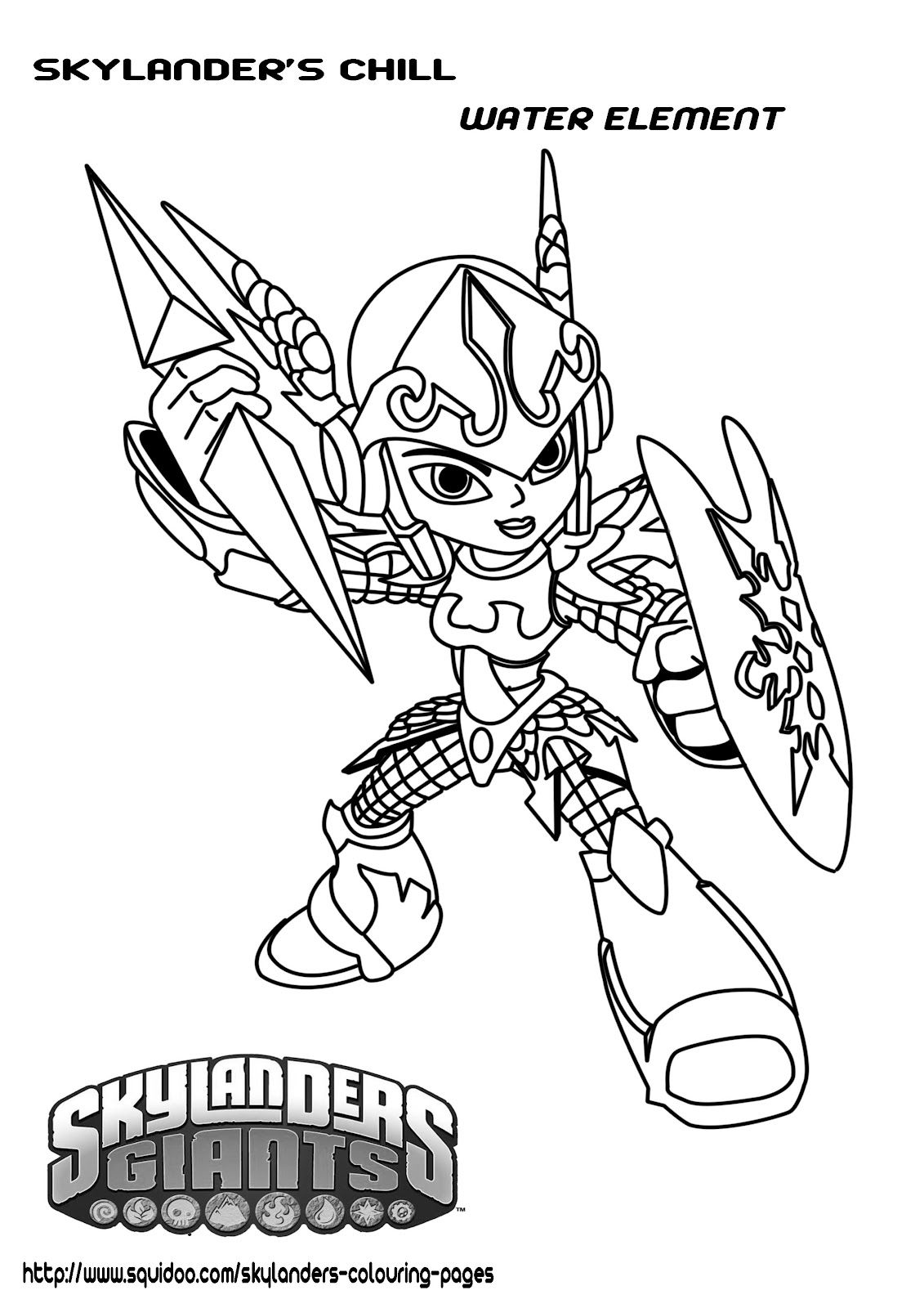 Printable Skylanders Coloring Pages