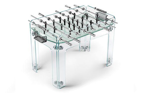 Acrylic Foosball Table From Teckell Basement Games Room
