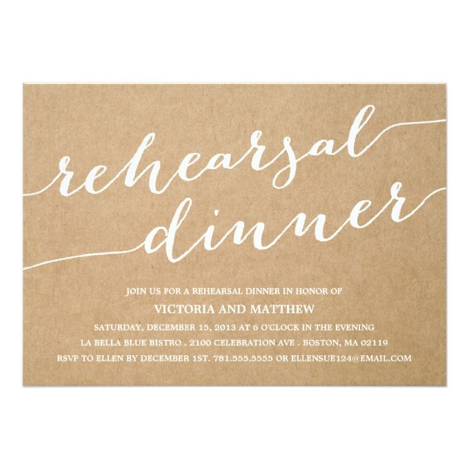 Modern Calligraphy  Rehearsal Dinner Invitation  Rehearsal Dinner