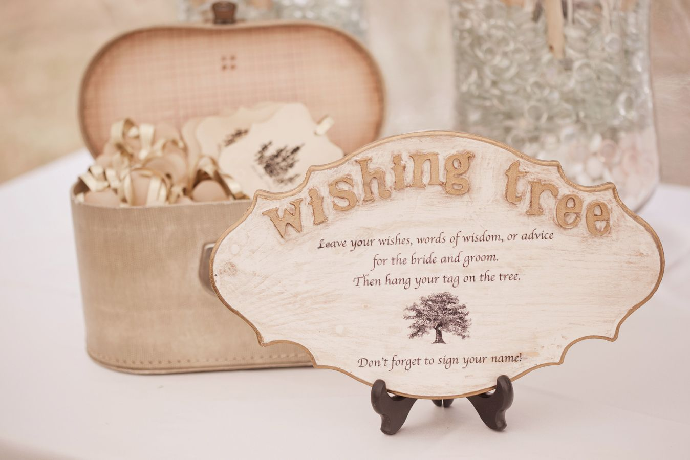 replace your guest book with a pretty wishing tree wedding and