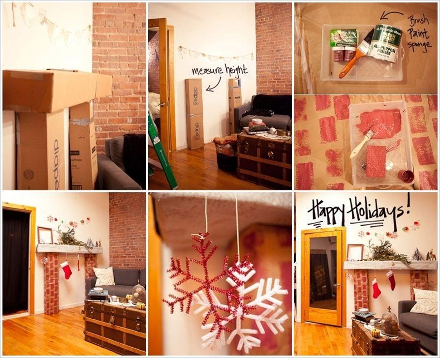 chimenea navideña 2 Decoración Pinterest Decoración