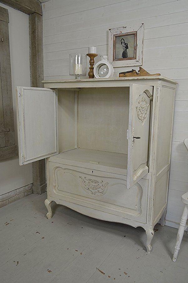 French Shabby Chic Tv Cabinet Artwork