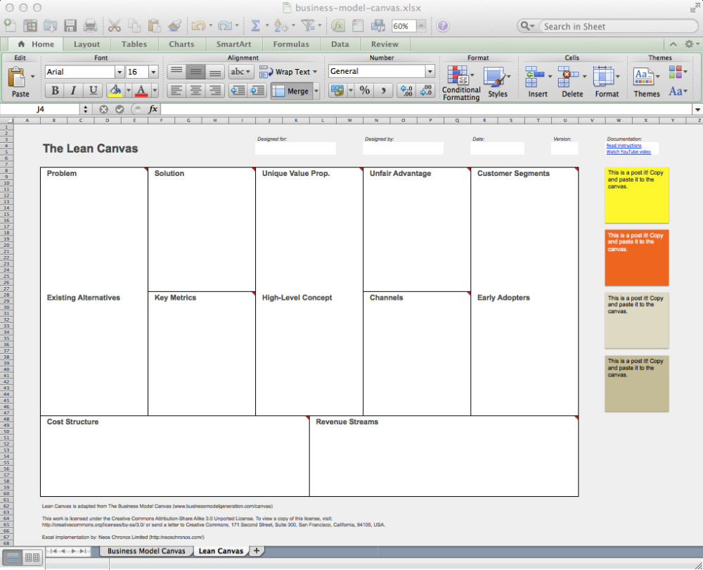 Business Model Canvas And Lean Canvas Templates Neos