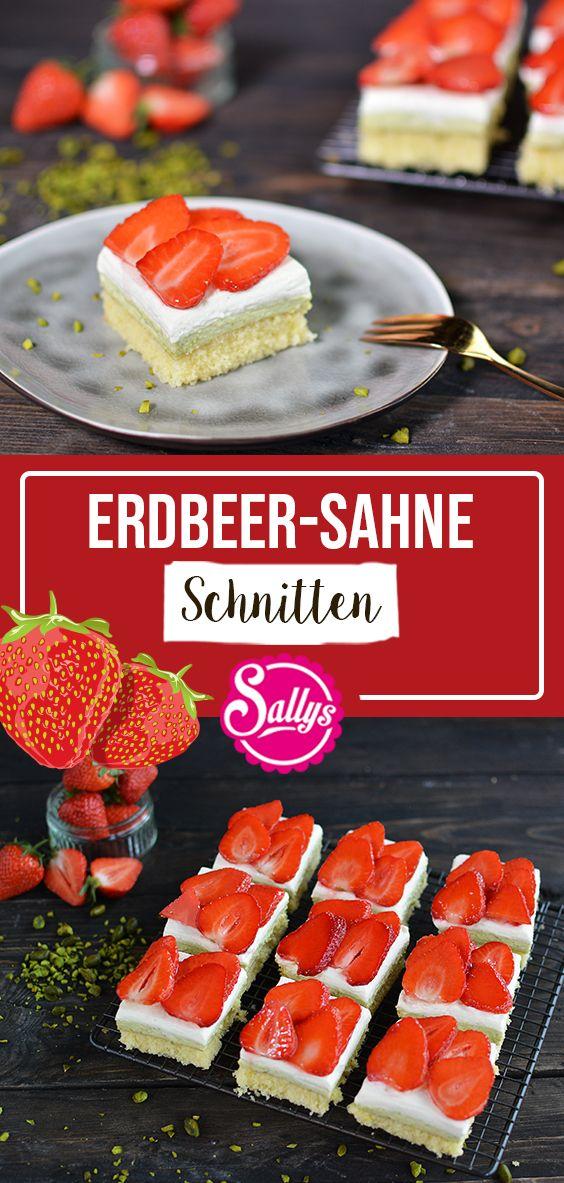 SALLYS ERDBEER-SAHNE SCHNITTEN MIT PISTAZIENCREME #foodporn