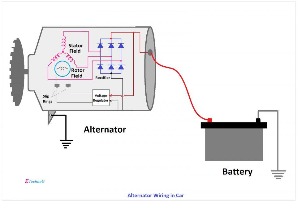 10 Basic Car Alternator Wiring Diagram Car Alternator Alternator Electrical Diagram