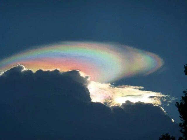 Nuvens irisdescentes