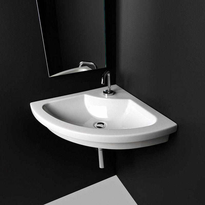 Ws Bath Collections Kart 57 Drop In Bathroom Corner Sink Kart 57