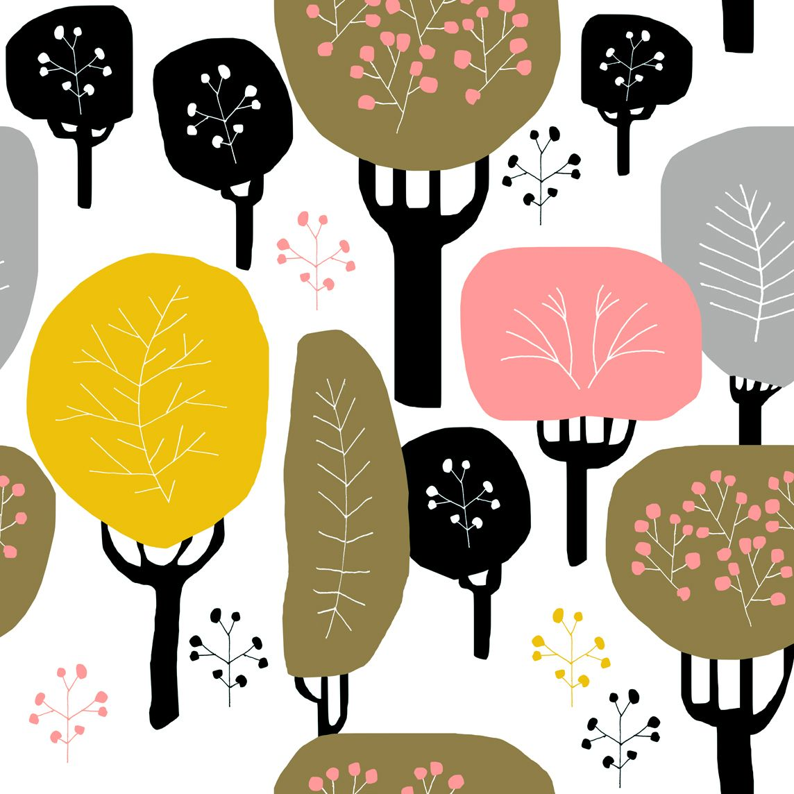 "Jenna Kunnas, ""Fall"" pattern illustration, Personal work, 2017"