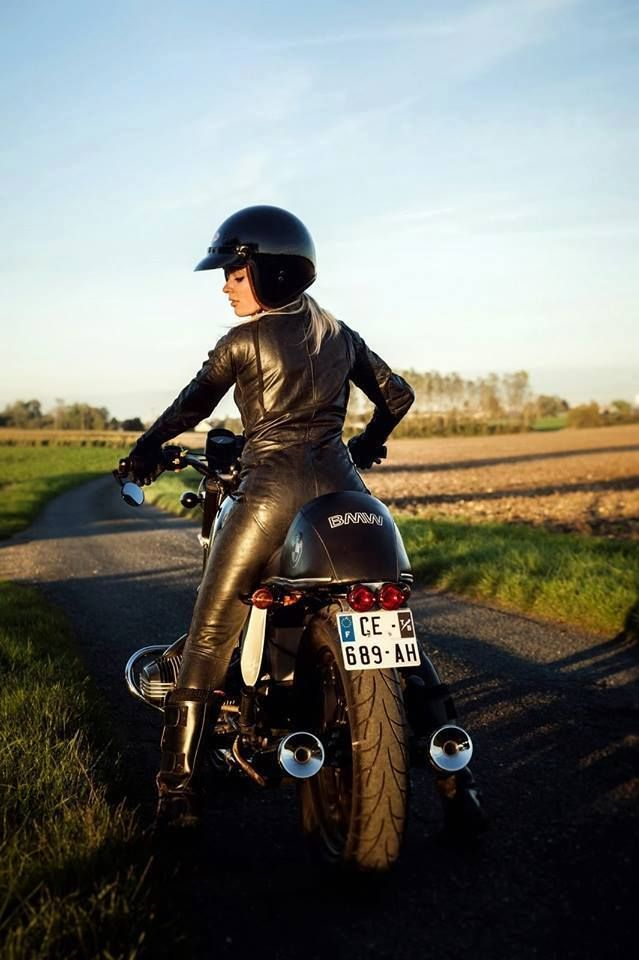 the 2 things i love the most, bmw airhead motorcycle & hot blonds