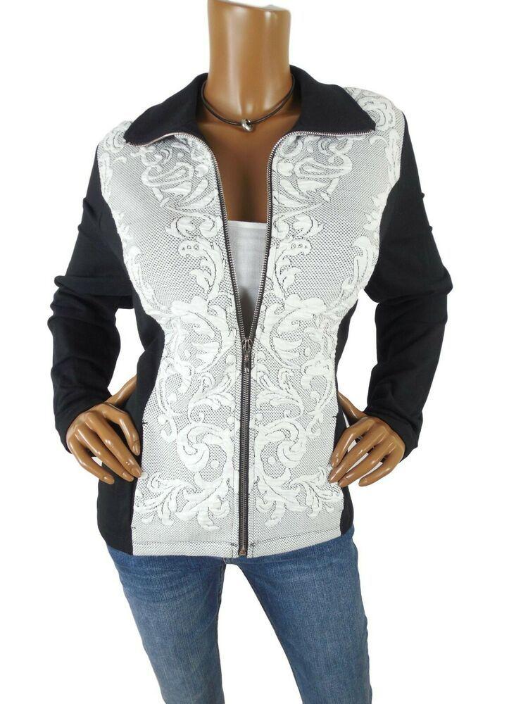 CHICO'S Women's Top L Sz 2 Cardigan Shirt Jacket BlackOff