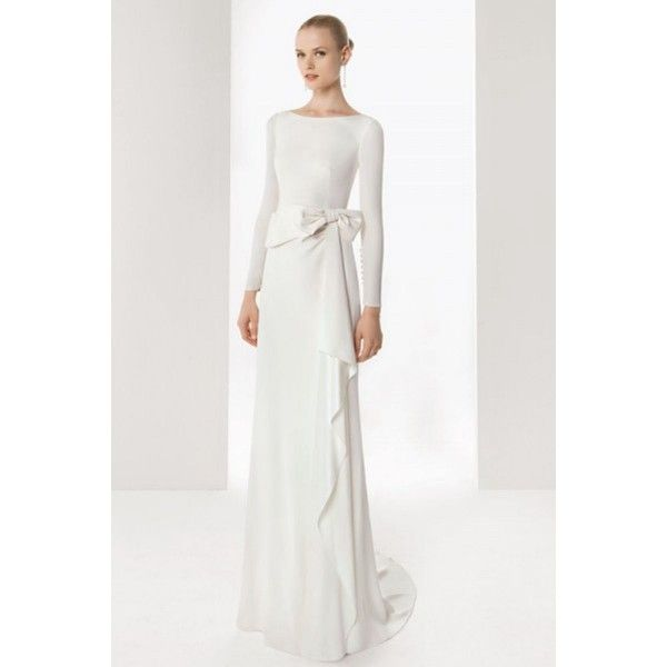 2013 Simple Long Sleeve Winter Wedding Dress